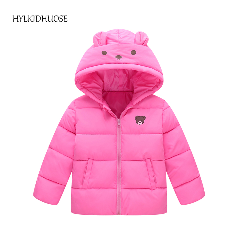 HYLKIDHUOSE 2017 Baby Girls Boys Winter Coats Hooded Warm Children Cartoon Bear Jacket Kids Infant Parkas Student Outerwear baby boys winter coats jacket children hooded outerwear kids warm cotton padded clothes infant parkas