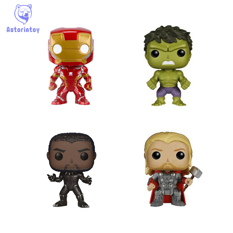 10cm THE Avengers infinity war Hulk Thor Iron man Black panther action figure big Bobble Head  Edition no box for Car Decoration10cm THE Avengers infinity war Hulk Thor Iron man Black panther action figure big Bobble Head  Edition no box for Car Decoration