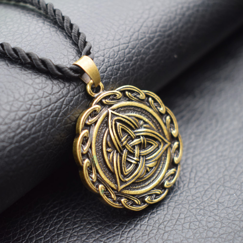 12pcs trinity knot engraved grey stone celtic love knot symbol 12pcs trinity knot engraved grey stone celtic love knot symbol pendant necklace irish celtic symbols pendants sanlan jewelry in chain necklaces from jewelry aloadofball Image collections