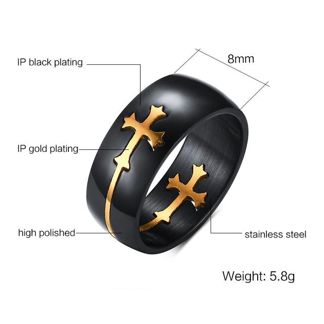 Separable Cross Ring-Black Color