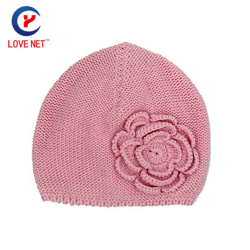 2017 New for 3-6 ages crochet hats for child Flower Caps for girl Kids Knitted Warm hat winter Knitting cap DS20170129 x30 цена и фото