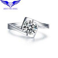 14K WHITE GOLD 6 5MM LAB GROWN DIAMOND TEST POSITIVE MOISSANITE 1 0CT DIAMOND EQUIVALENT FOR