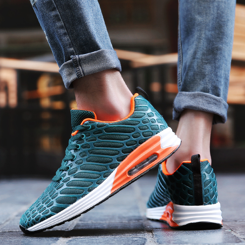 Hot Sales Breathable Running Shoes For Man Black Blue Sport Shoes Men Sneakers Zapatos Walking Outdoor Male Shoes