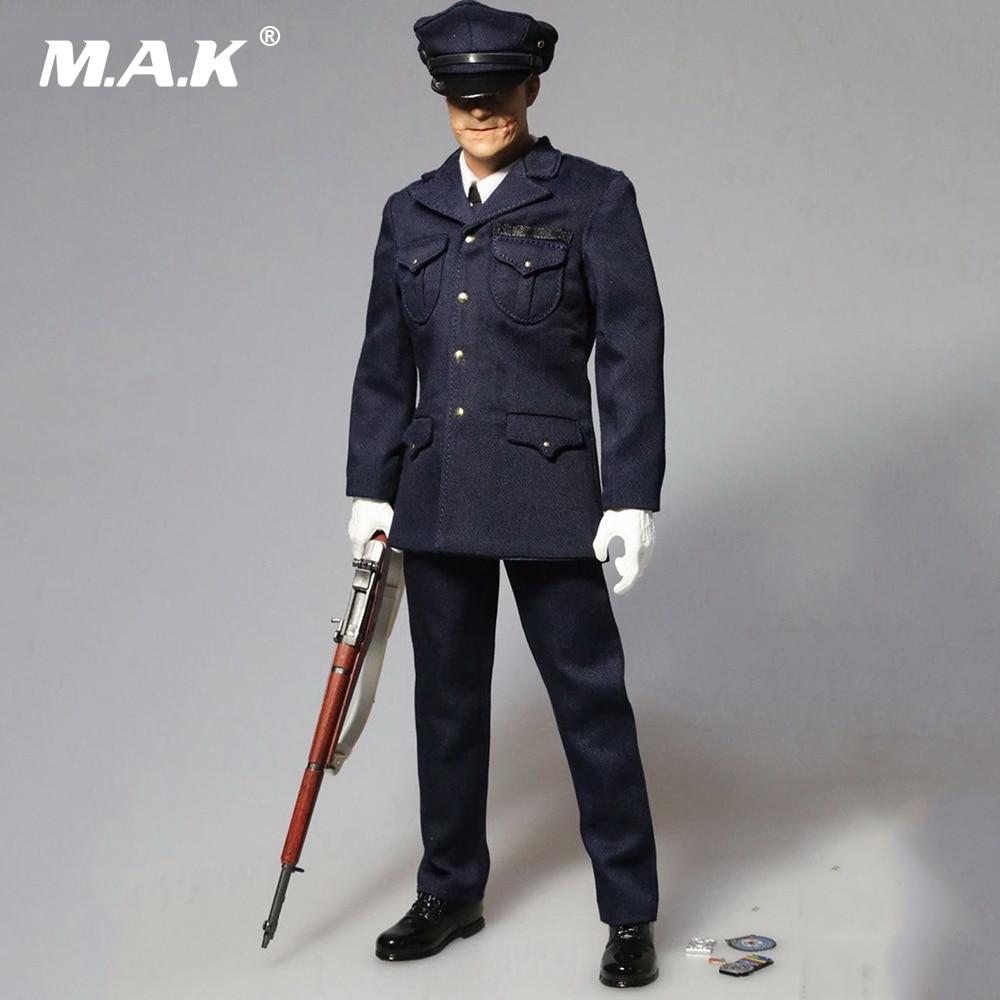 1/6 Joker Heath Police Suit With Head Sculpt Models F 12 Male Body Action Figures