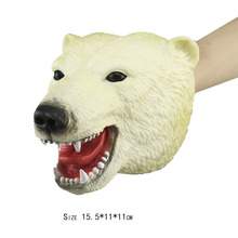 Forest Animals Polar Bear Big Wolf Labrador Rhinoceros Model Action Figure PVC Cute Animal Dolls Toys For Children Gift oenux original savage wild animal wolf action figure gray wolf beast wolves model figurine pvc high quality collection toys gift