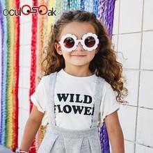 New Cute Sun Flower Round Sunglasses for Children Boys Girls Child Glasses with UV Protection Gift 2019