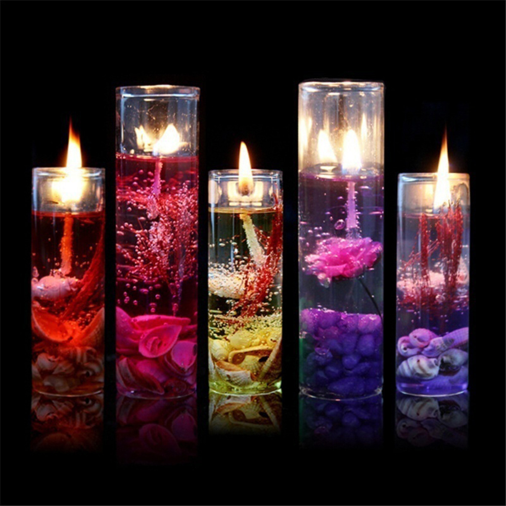 New Art Ocean Jelly Aromatherapy Candles Wedding Valentines Romantic Scented Candle Decoration Random Smokeless Candle