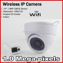 Free shipping H.264 ONVIF 720P Wireless IP Camera built-in 2db antenna Mini Web Wifi Camera support iphone  Android phone browse