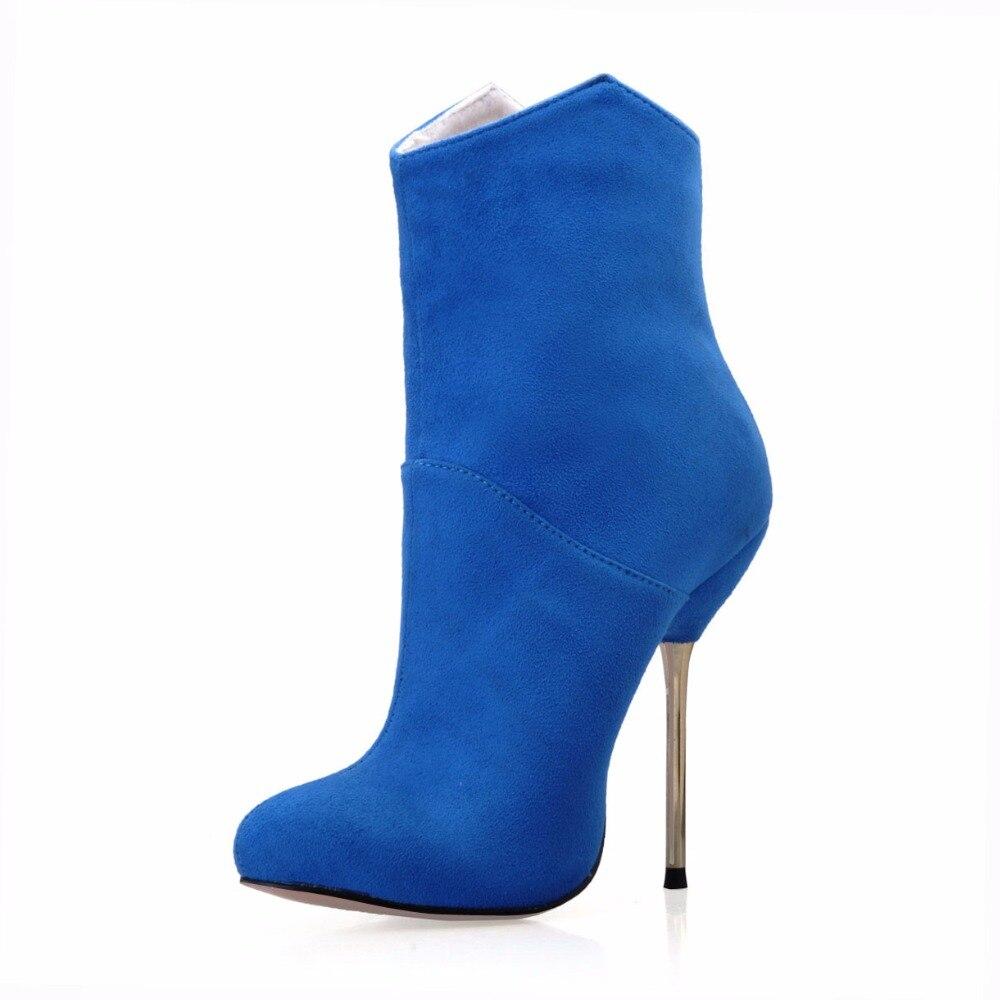 Mujer Offre Haute Pointu Dames Partie Flock Zapatos Mince blue Métalliques Zipper Bout Spéciale Talons Mode red Bottes Femmes Sorbern Colorful Patent Pu Flock black apricot 53cL4AjqRS