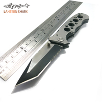 Stainless Steel Hunting Knife Tactical Survival Folding Knife Quality 440C Blade Camping Hunting EDC Utility Knives
