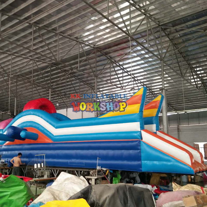 Rocket Theme Water Park Water Slide, Giant Moible Inflatable Water Slide