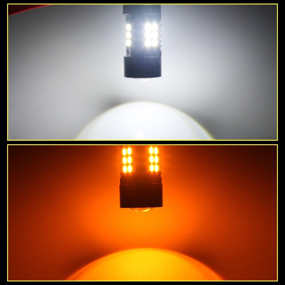 AILEO Car H15 LED Car Headlight Bulbs 6W 1200LM High beam 12V 21-SMD 3030 Conversion Driving Light 6500K For VW Audi BMW Pakistan