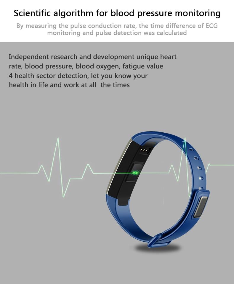 M2 Pro R5MAX Smart Fitness Bracelet Watch 50word Information display blood pressure heart rate monitor Blood oxygen PK Mi Band 3 (6)