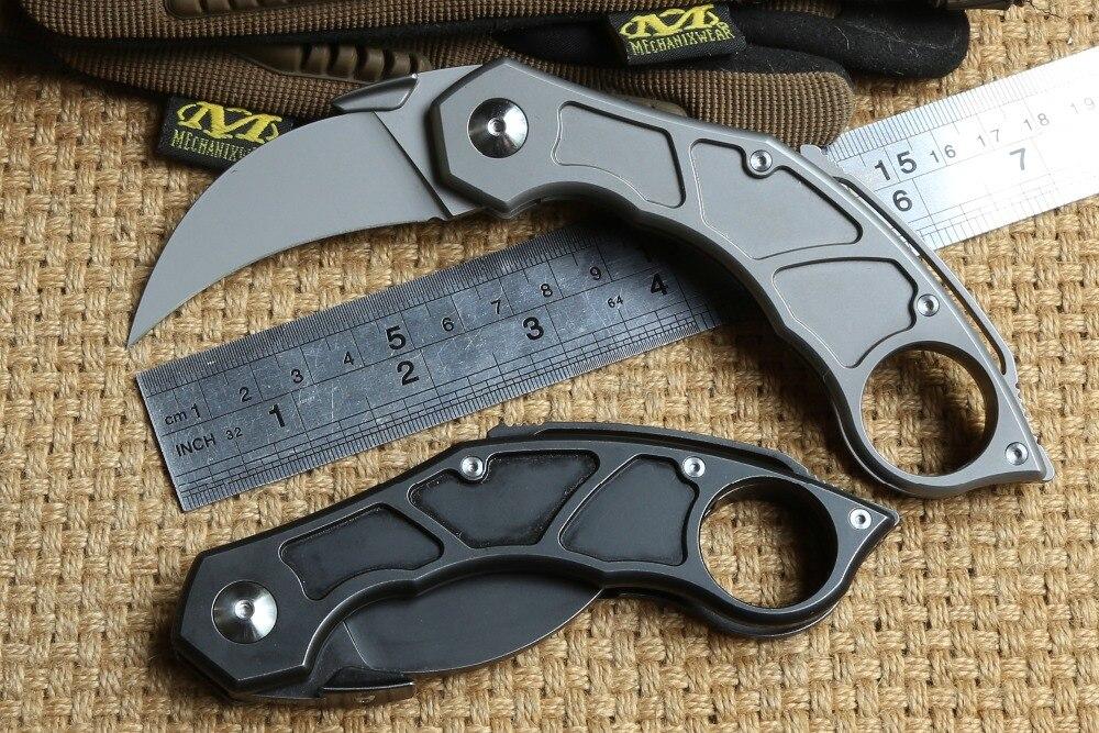 Couteau pliant DICORIA QM à griffes M390 lame titane hanlde karambit couteaux de chasse survie en plein air outils EDC