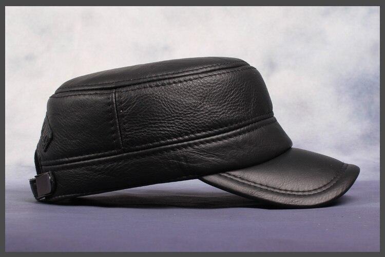 quente chapéu do exército ajustável orelha plana preto marrom boné hl064