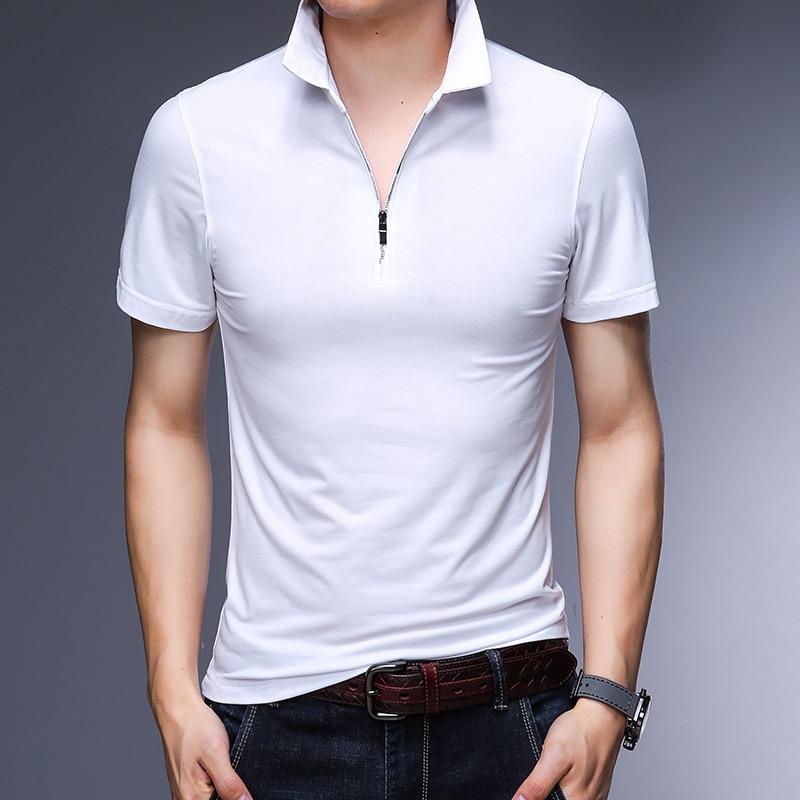 New 2018 summer mens slim plain color polo shirts male fashion design pure cotton short sleeve polos clothes 3