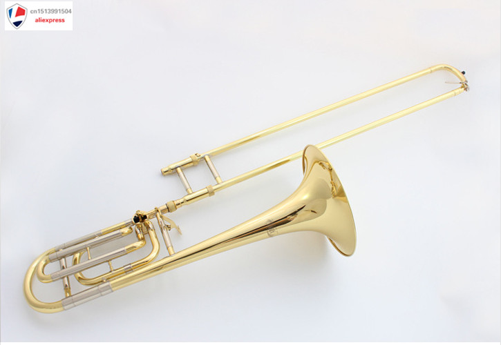 US $330 0 |High level change the tone of the long tone white copper tube  professional performance long-in Trombone from Sports & Entertainment on