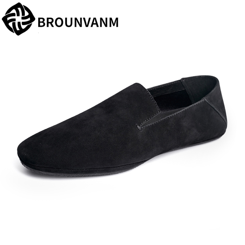 Genuine Leather loafer shoes men Summer Spring men's Driving shoes soft casual lazy shoes male all-match cowhide British retro spring and autumn summer british retro men s lazy doug shoes loafer shoes men driving shoes male leisure driving casual cowhide