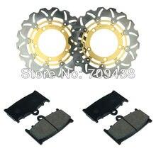 2 X Front Brake Disc Rotor+Pad For SUZUKI SUZUKI GSR 600 K6/K7/K8 06-08