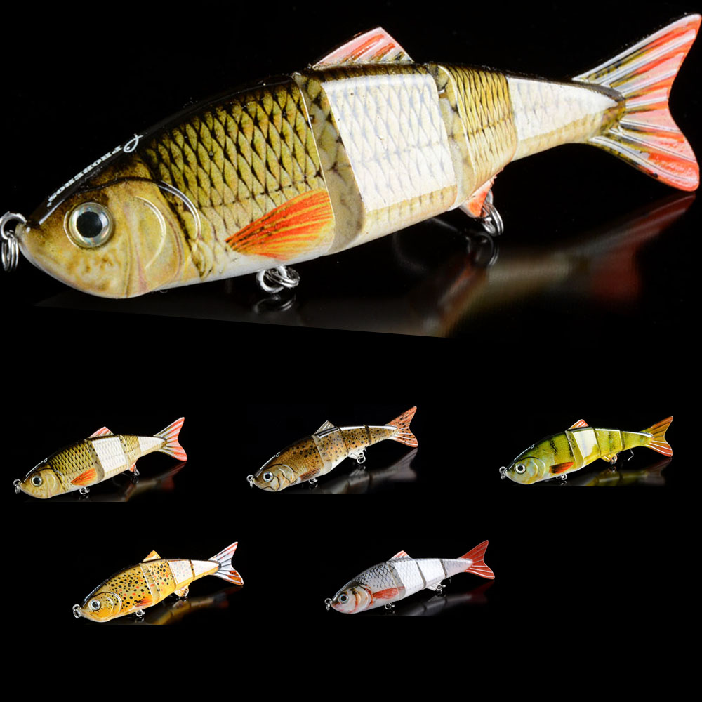 1PCS Multi-jointed Bass Pike Trout Fishing Lure 3D Eyes swimbait Crankbait Hard Bait 12.2CM 17g Fishing Tackle 6# Hooks 1pcs fishing lures hard 4 5cm 4g bait minnow lure fishing bass crankbait swimbait trout baits with 2 hooks fishing tackle fa 313