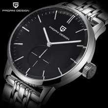 PAGANI DESIGN brand luxury fashion casual men's watches stainless steel Quartz business watch Relogio Masculino montre homme+box цена и фото
