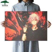 DLKKLB Классическая анимация Токийский вурдалак плакат винтажная ретро крафт-бумага наклейка на стену в общежитии 51,5x36 см домашний декор живопись