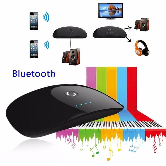 ZF-370 Bluetooth Transmisor Receptor Inalámbrico 2 en 1 Portátil Reproductor de Audio de 3.5mm Adaptador Para Android/IOS Smartphone MP3 TV PC