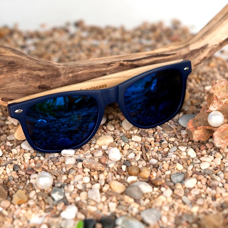 2bcca87ae Ξالرجال نظارة شمسية من خشب البامبو في خمر نمط مع إطار بلاستيك و ...