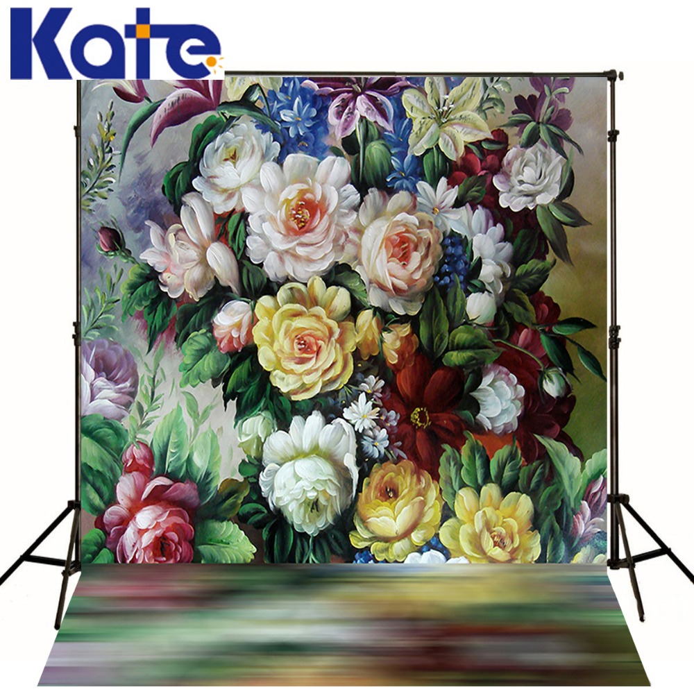 Kate Digital Printing photography Backdrop Abstractionism Painting Backdrops Retro Flowers Photo Studio Background kate digital photography backdrop