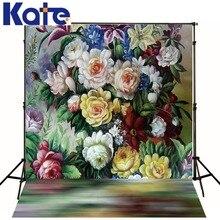 Kate цифровая печать фотографии фон живопись, абстракционизм фонов Ретро Цветы Аксессуары для фотостудий Задний план