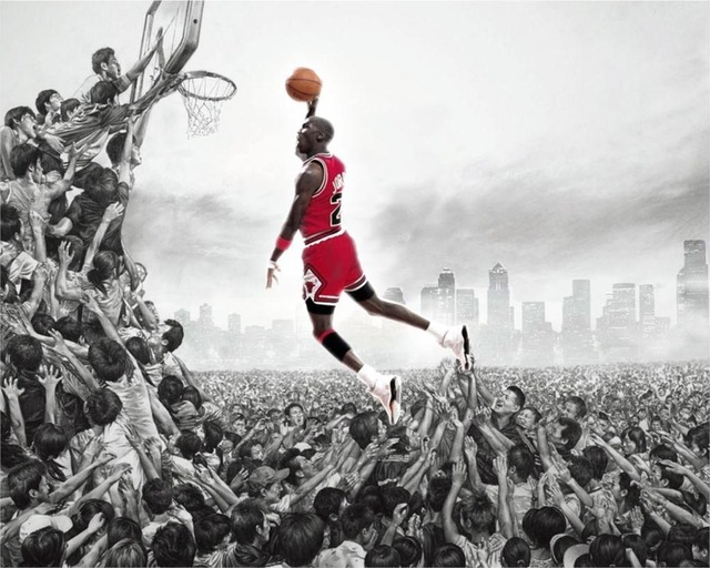 Sale New Paintings Cuadros Decor Sports Basketball Ball Michael Jordan Poster Home Decoration Canvas Print Picture image