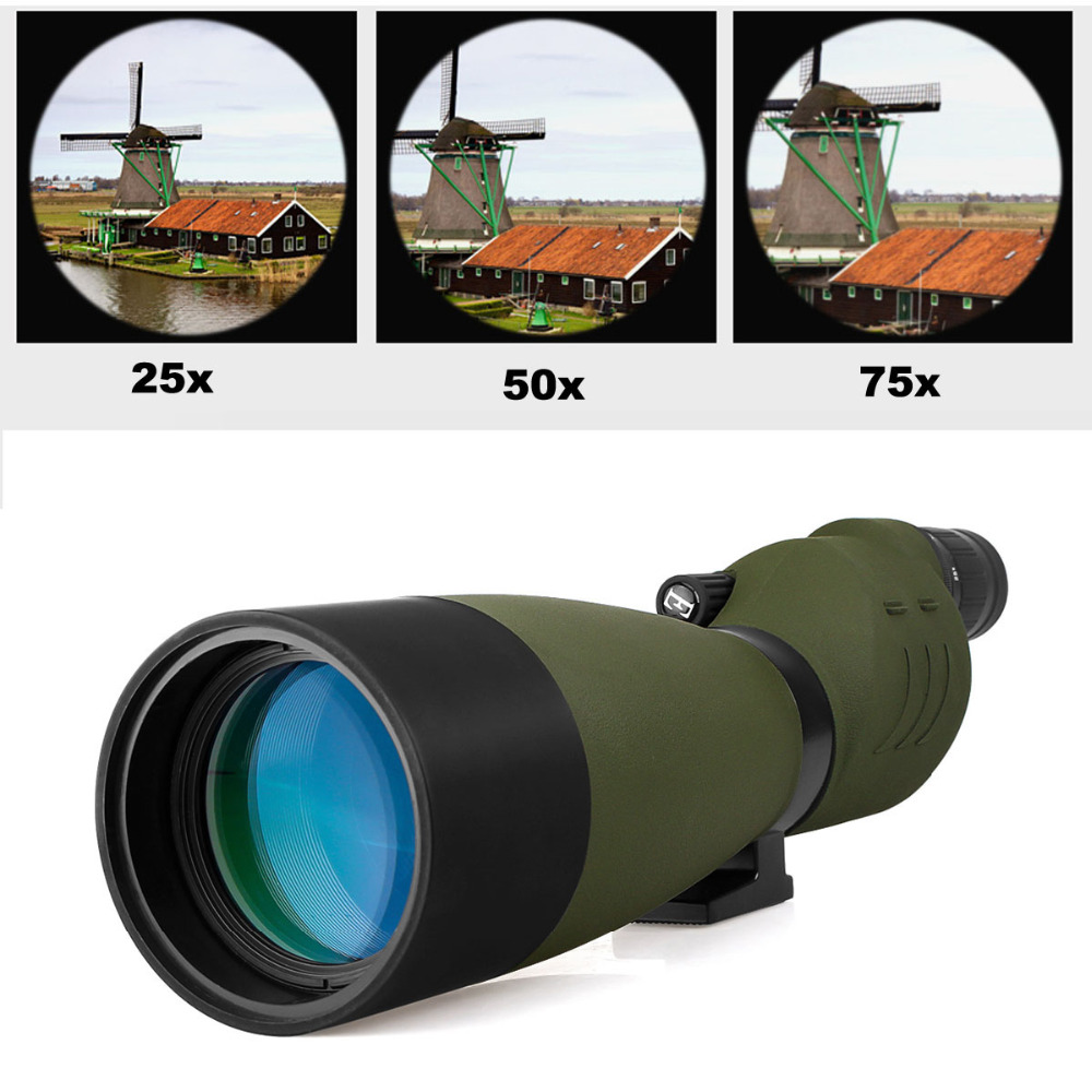 SVBONY SV17 Spotting Scope 25-75x70mm Zoom BAK4 Waterproof Straight 180 De for Target Hunting Archery Monocular Telescope F9326G