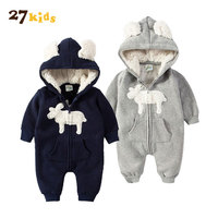 27Kids Baby Romper Girls Clothes Cotton Newborn Rompers Ropa Infant 2018 Kids Baby Clothing Jumpsuit Autumn