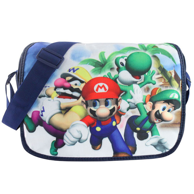 Super Mario Brother Characters Black Canvas Shoulder Bag Cosplay Gift