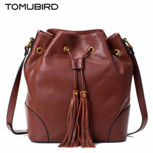 TOMUBIRD new superior cowhide leather Designer famous brand women bag fashion Bucket bag women genuine leather bag