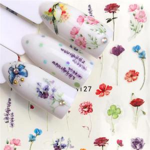 Image 3 - 1 Sheet Nail Stickers Water Transfer Sticker Cartoon Flamingo Cute Animal Designs Nail Art Slider Manicure Decoration