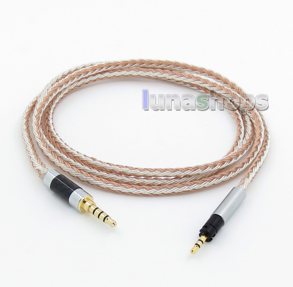 3.5mm 4pole TRRS Re-Zero Balanced 16 Core OCC Silver Mixed Earphone Cable For Senheiser Momentum 1.0 2.0 Over-Ear LN005807 800 wires soft silver occ alloy teflo aft earphone cable for ultimate ears ue tf10 sf3 sf5 5eb 5pro triplefi 15vm ln005407