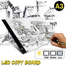 A3 LED Drawing Board LED Graphic Tablet Writing Painting Light Box Tracing Board Digital Drawing Tablet Copy Table LED Board Pad(China)