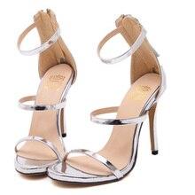 Harmony Metallic Strappy Sandals Silver Gold Platform Gladiator Sandals  Women High Heels Shoes Summer style Free 97fc71dbe9c7