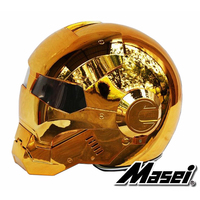 MASEI 610 Electroplate Bronze Plating Chrome IRONMAN Iron Man Helmet Motorcycle Helmet Half Open Face Helmet