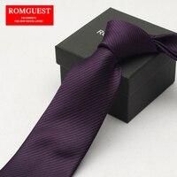 Romguest высококачественный нано фиолетовый 8 см чистый цвет галстук Бизнес костюм для отдыха Галстук Twill