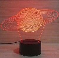 Creativo 3D USB Sistema Solar mordel lámpara bebé dormir Nightlight planeta abstracto LED colorido luz mejor regalo