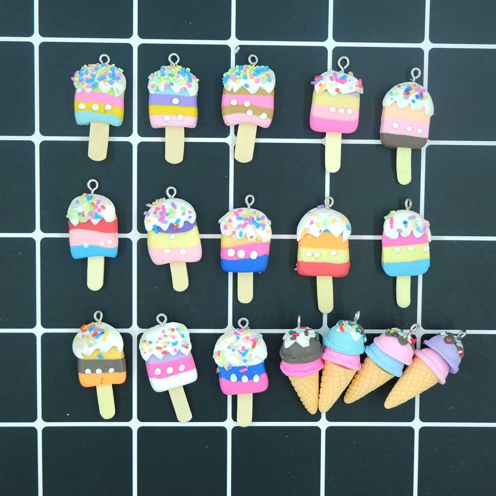 Kawaii Ice Cream Charms Pendants for DIY  decoration bracelets necklace earring key chain Jewelry Making
