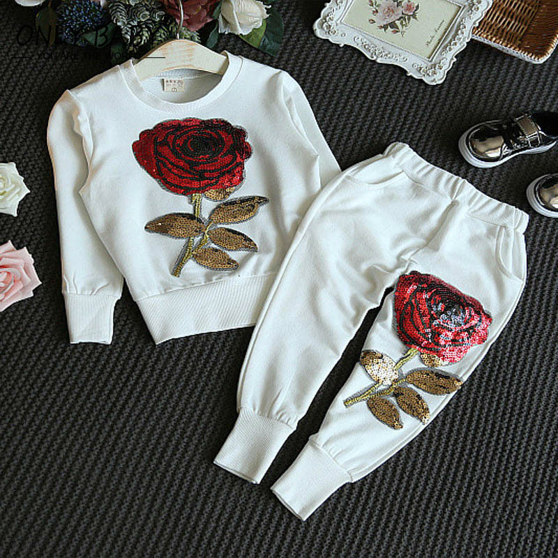 dbb58539e9d41 2016 marque automne bébé fille vêtements enfants filles vêtements ensemble  Elsa souris Sequin Sport costume pour les filles 2 3 4 5 6 7 8 ans dans  Vêtements ...