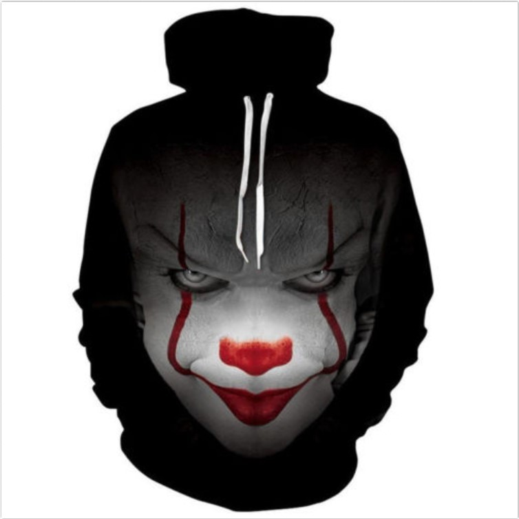 Initiative It Pennywise Clown Stephen King 3d Print Horror Movie Cosplay Hoodies Sportswear Durable Modeling Hoodies & Sweatshirts