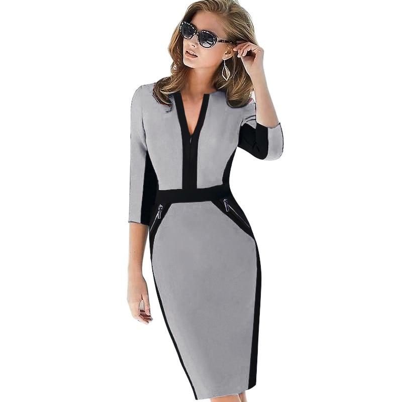 Plus Size Elegant Bodycon Pencil dress 28