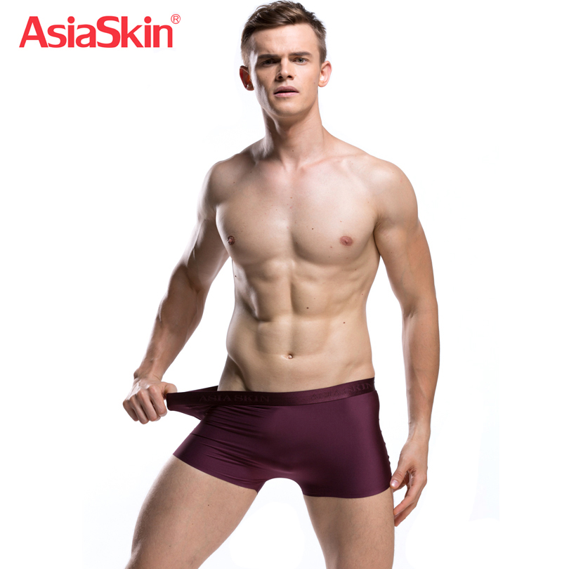 2017 Famous Mens Ultra-thin Boxers Solid Fashion Ice Silk Sexy Ropa Interior Hombre Seamless Ondergoed Mannen Mid-waist