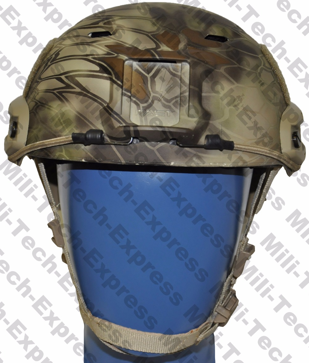 MILITECH FAST KRYPTEK BJ High Cut Style Vented Airsoft Tactical Helmet Ops Core Style Base Jump Training Helmet Air Soft Helmet fast atacs fg fa style super abs airsoft tactical helmet ops core style high cut training helmet fast ballistic style helmet