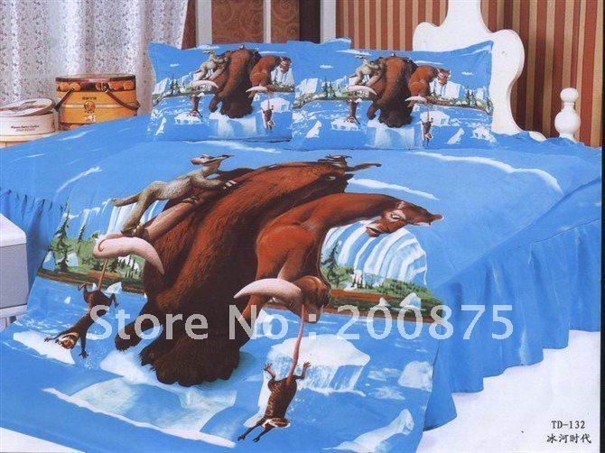 Free Shipping 3pcs Kid Bedding Set 100 Cotton Ice Age Bed