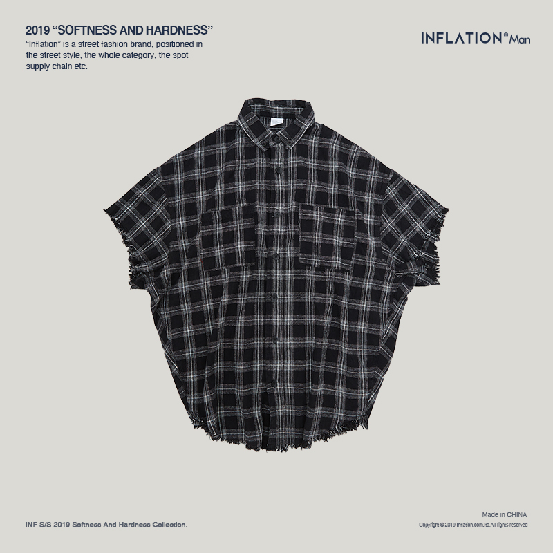 Image 4 - INFLATION Men Plaid Shirt Men Shirts 2019 New Summer Fashion 